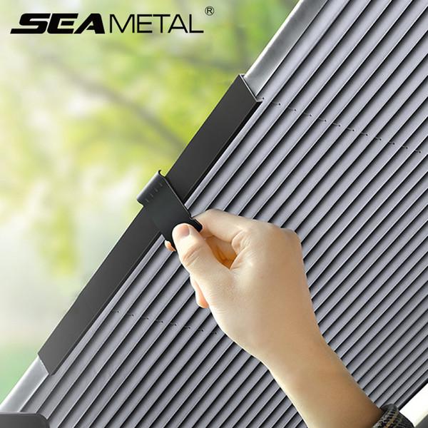 46cm/65cm/70cm/80cm Car Sunshade Cover Sun Shade Automobiles Front Window Visor Covers Auto Rear Windscreen Cover UV Protector