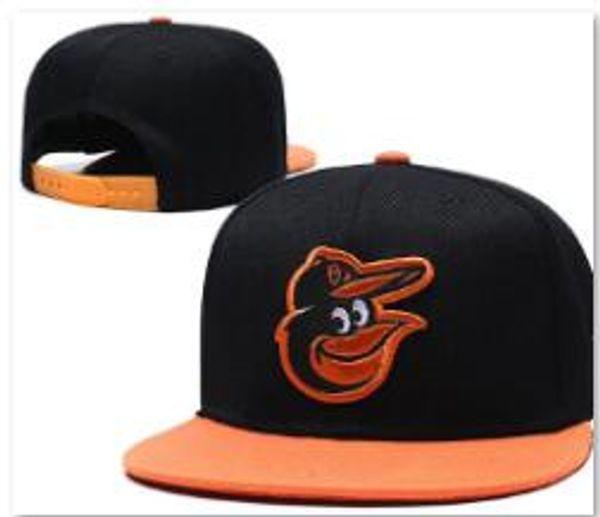 Wholesale 2019 Top Quality Orioles Snapback QS Hat Gorras Embroidered Team Logo Fan's Hip Hop Cheap Sports Baseball Adjustable Cap Bones 00