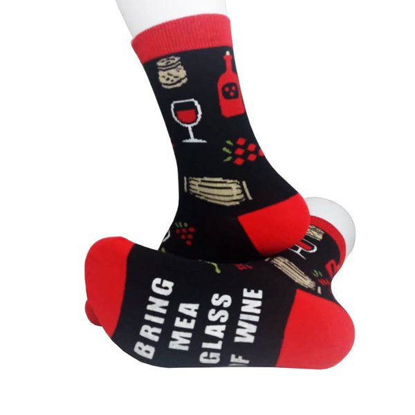 Letter If You Can Read This Bring Me A Glass Of Wine socks fashion personalized novelty funny men women sock printed happy socks