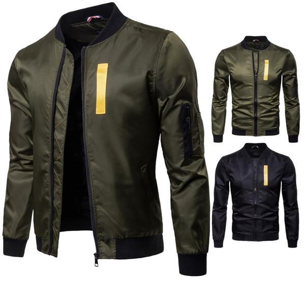 Neue Herbst Kleidungsstück Kragen Kragen Kollision Farbige Fliegerjacke der Männer Fliegerjacke Y987