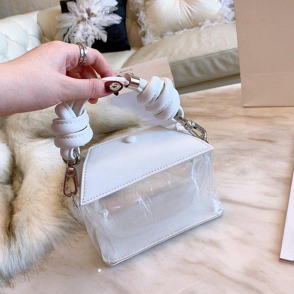 Nova Moda Transparente Claro Senhora Bolsa gilr amor Messenger Bag Embreagem Satchel Mulheres De Couro Tote Doce