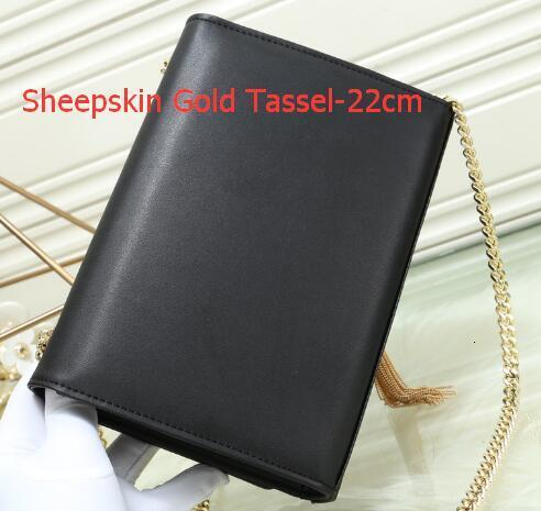Como Pic 15 pele de carneiro de ouro Tassel-22 centímetros