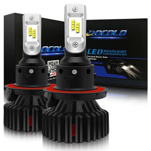 HOCOLO -H13 9008 -LED Headlight/Headlamp Bulbs Conversion Kit, 8000LM 6000K Xenon White - Headlight Hi Low Beam/Dual Beam-1 Years Warranty