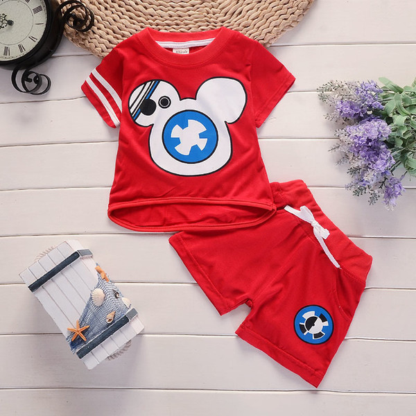good quality Summer boy clothing set Cartoon Kids Set Children Short Sleeve T-Shirts Pants Baby Clothes sports Sets Hot Sale Brand