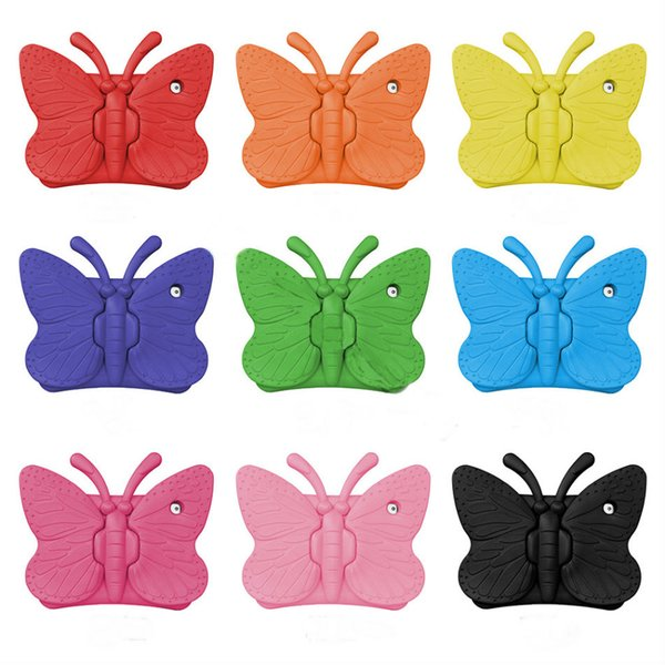 Soft EVA Foam Case For iPad mini 1234 New iPad 2017 Butterfly Stand Portable Tablet Cover For iPad 2 3 4 Samsung Tab