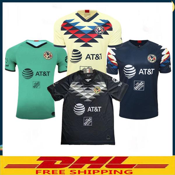 DHL Livraison gratuite 19 20 maillots de football Club America à domicile 2019 2020 LIGA MX maillots de football Club America Taille peut être mixte lot