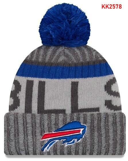 NEW Striped Sideline Buffalo Beanie Men Women Sport Cuffed Winter Knit Hat Wool Bonnet 100th Anniversary Beanies Hip Hop Skull Cap 05