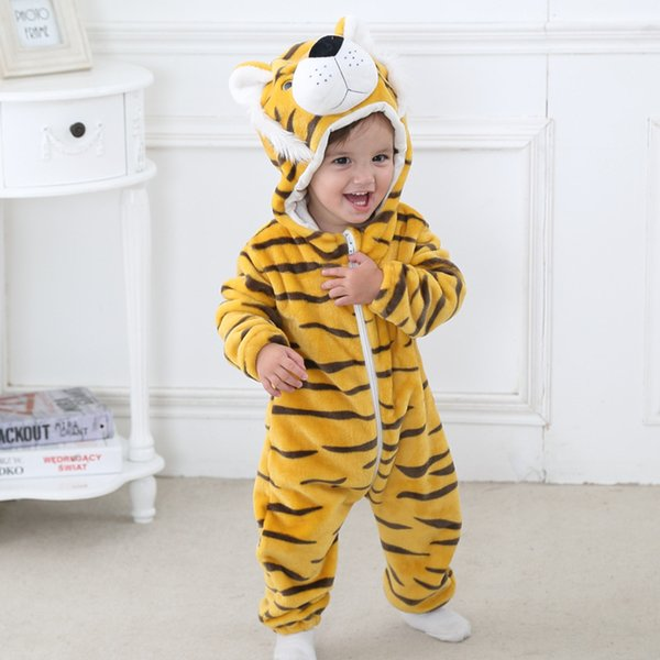02dca14ac6c26 2019 Newborn Baby Boy Girl 3D Cartoon Animal Style Creeping Costume Solid  Rompers Warm Spring Autumn Cotton Romper Playsuit Clothes SX3 From ...