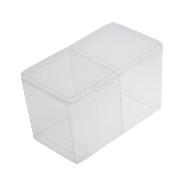 el polish removal pads 2-Compartments Clear Remover Cotton Pad Swab Container UV Gel Polish Glitter Powder Storage Box Multifunctional St...