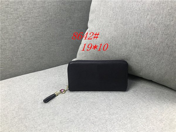 Fashion Womens Luxury bag Famous Brands Designer LONG Women Notecase Wallets & Holders Casual PU Leather Lady Credit card purse C8642