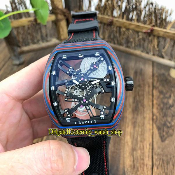 Top-quality MEN'S COLLECTION Vanguard V 45 T GR CS SQT BR (NR) Black Skeleton Dial Miyota Automatic Mens Watch Luminous fiber Case Watches