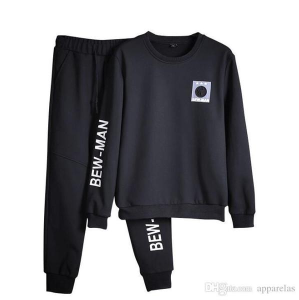 Mens Sports e Leisure Set Girocollo Pullover Maglione Pantaloni Abbigliamento sportivo