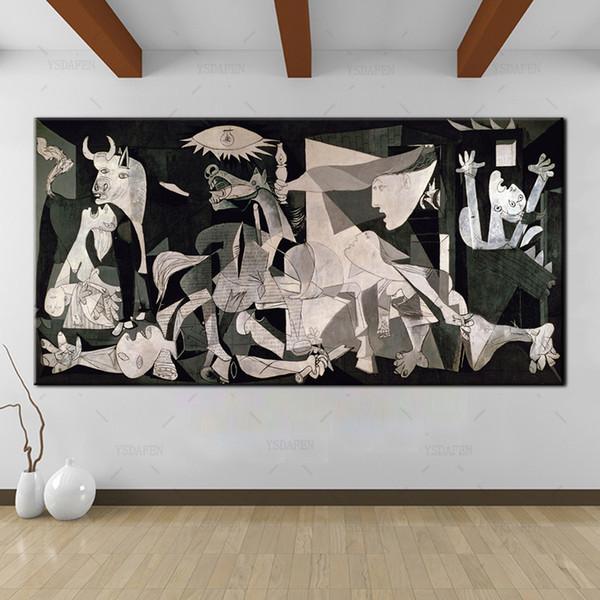 YSDAFEN Espagne France Picasso Classique Guernica 1937 Allemagne Figure Toile Art Print Peinture Affiche, Mur Picturer
