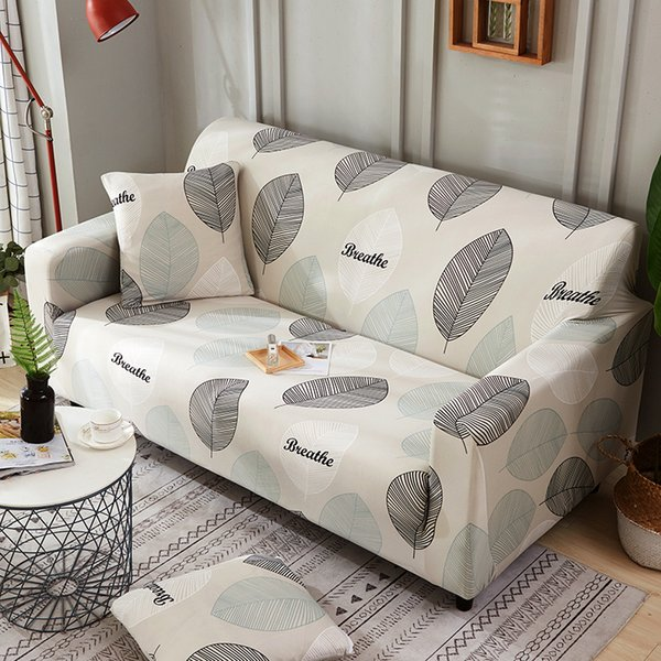 Awe Inspiring Pastoral Style Large Leaves Printed Armrest Slipcovers All Inclusive Sofa Cover Elastic Sectional Sofa Cover1 2 3 4 Seater Dining Chair Slipcovers Caraccident5 Cool Chair Designs And Ideas Caraccident5Info