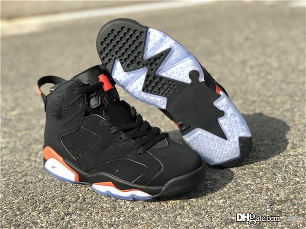 the latest b30f1 74ab0 2019 2018 Authentic 2069Jordan 6 OG Black Infrared Retro Basketball Shoes  Man Pack Black Red Sports All Star 384664 060 With Original Box From Mics,  ...
