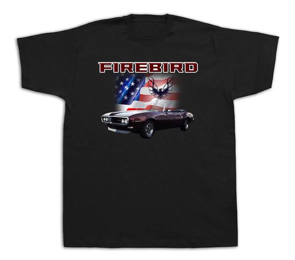USA Firebird Pontiac America flag T-shirts Muscle Car Hot Rod AM Trans New GM 2018 New Brand Mens T Shirt Cotton