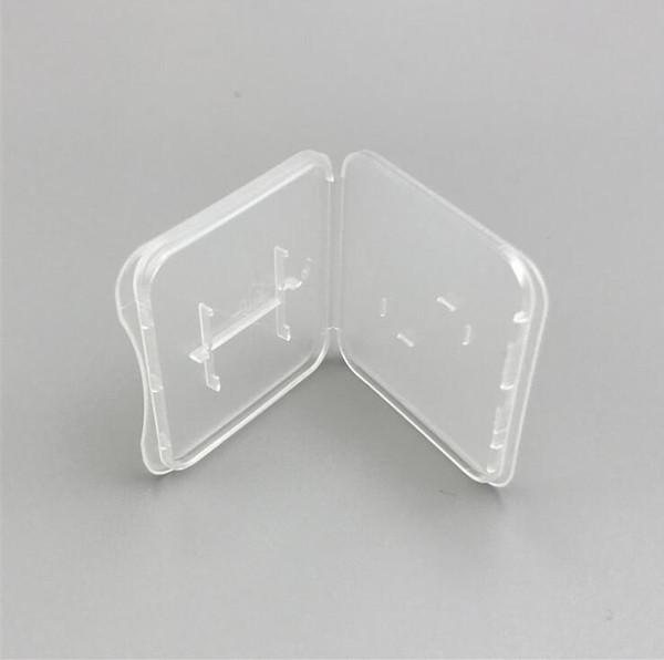 2019 boîte de protection conteneur de la carte mémoire boîte de stockage de la boîte à outils outil de stockage transparent en plastique facile à transporter -Z090
