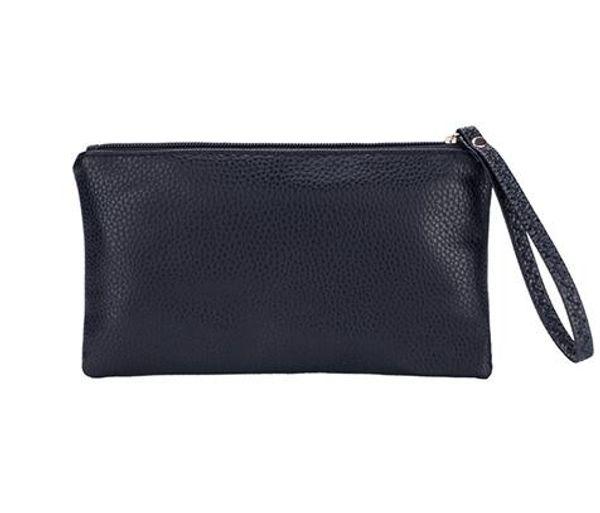 Men's Zipper Coin Bag, PU Leather Wallet Mini Card Coin Money Key Phone Purse Bag Clutch Bag Case