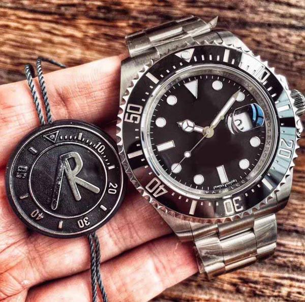 updated version Top Factory 904L Steel 43mm 126600 Sea-Dweller Ceramic 50th Anniversary Swiss ETA 2824 Movement Automatic Mens Watches