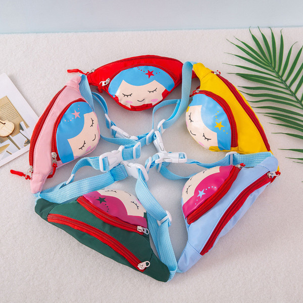 Children Waist Packs Kid Fanny Bag Cartoon mermaid Chest Bag For Boy Girl Baby Money Waist Bags Belt bag B11