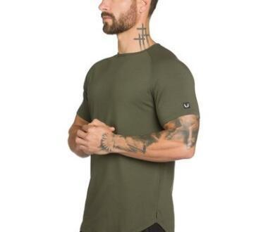 Hommes gymnases été Workout Fitness T-shirt de haute qualité Bodybuilding T-shirts O-cou coton court Tee Tops Vêtements pour Homme
