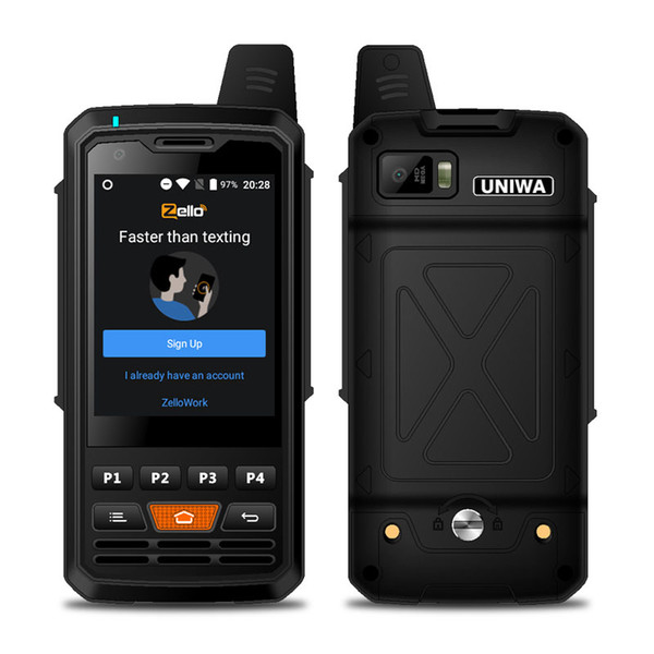 best selling 2.8 Inch Touch Screen Walkie Talkie Android 6.0 POC 4G LTE Zello PTT Walkie Talkie UNIWA F50 Smart Mobile Phone