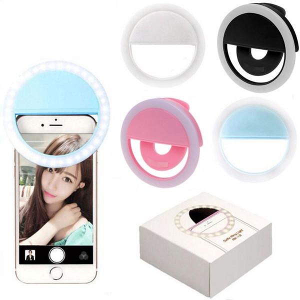Selfie Ring Light Clip auf USB wiederaufladbare 36 LED-Kamera Telefon Füllen Licht Whiten Beauty Abnehmen Fotografie Lampe Neuheit Artikel