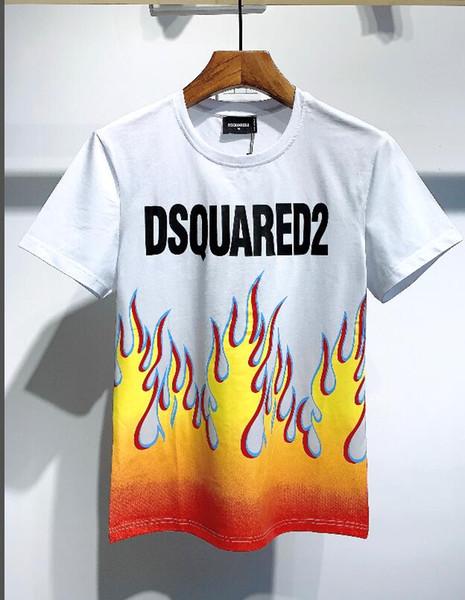 Nouveau tigre t-shirt feu de luxe T-shirt d'été de dessin animé lettres d impression de dessin animé Lettres d impression à manches courtes T-shirt des jeunes