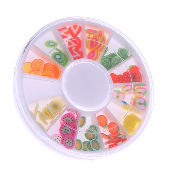 240 Punte di arte del chiodo di frutta Decorazione del gel UV + ruota nuova
