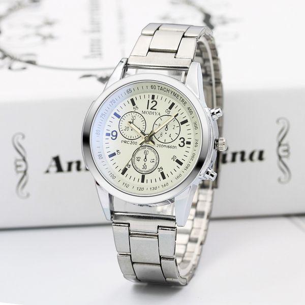 New Fashion Men's Quartz Watch Blu-ray Gift Steel Belt Watch Male