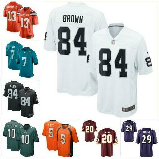 huge selection of c47cc 6e53e 2019 Nick Foles Joe Flacco Jersey Eagles Raiders Odell Beckham Jr Antonio  Brown DeSean Jackson Landon Collins Custom Football Jerseys Rugby Usa From  ...