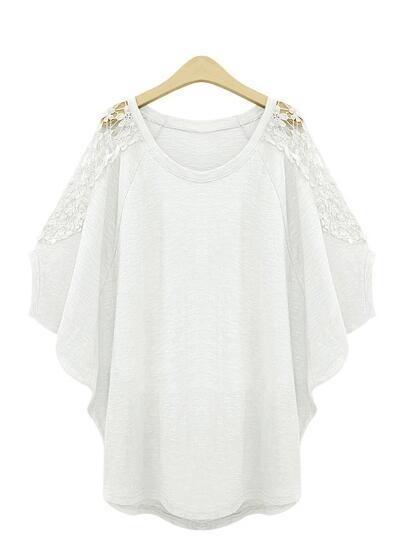Femmes Mode Dentelle Blusas Hauts Chemises desserrées