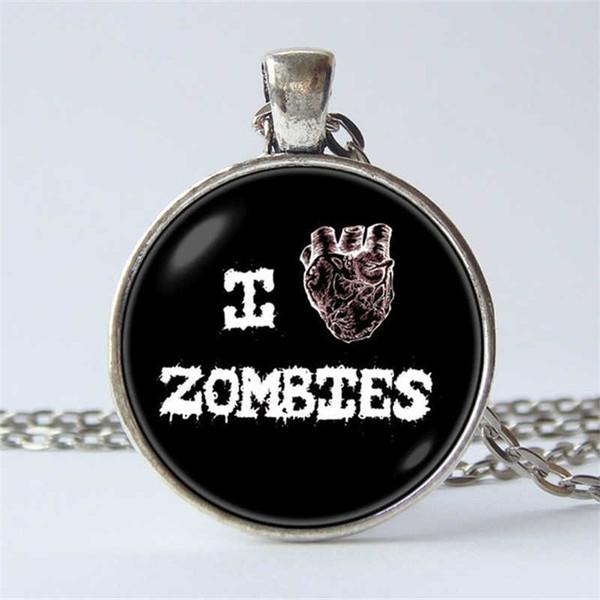 Horror Necklace Zombie Pendant Zombie Necklace Post Apocalyptic Dead Heart Necklace Art Zombie Jewelry Walking Dead Horror Jewelry