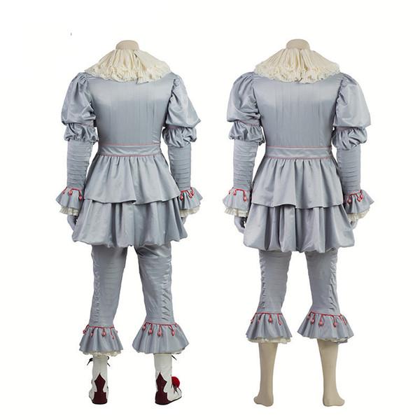 Clown Halloween terno de seda de algodão dos homens mistos Roupa Festival ao ar livre Cosplay Designer Vestuário frete grátis vestuário estágio