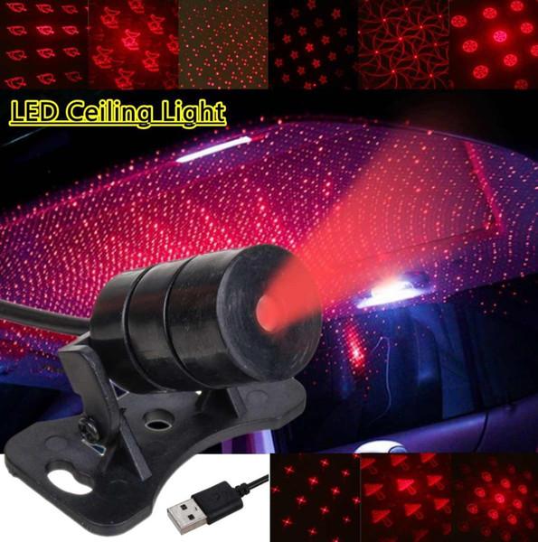 Mini LED Toit De Voiture Plafond Star Night Light Projecteur Lampe Intérieur Ambiance Décoration Étoché Projecteur USB Plug