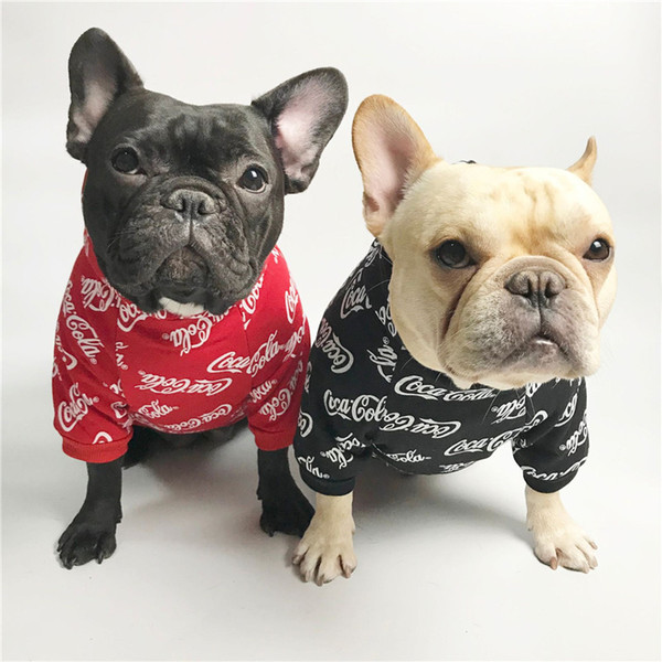 Red Teddy Puppy Schnauzer Fashion Hoodies Tide Brand Cute Small Pet Sweaters Autumn Winter Warm New Year Hoodies