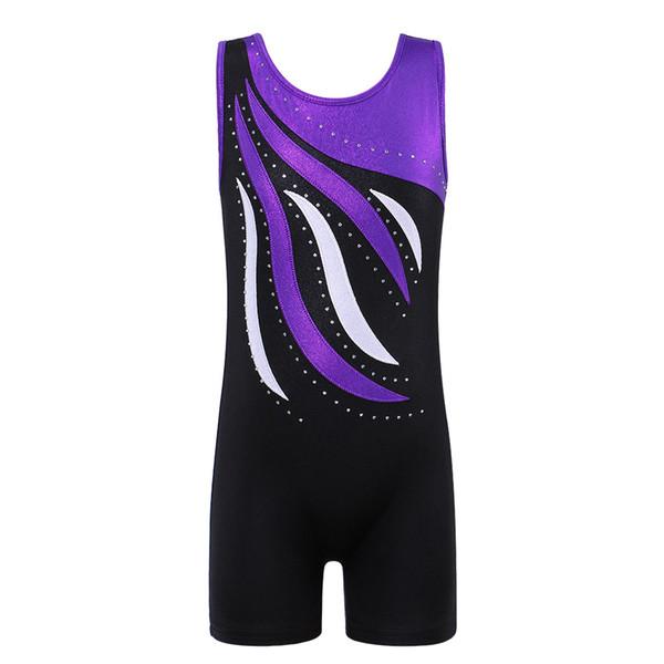 BAOHULU Girls Ballet Leotard Sleeveless Biketard Girls Ballet Dance Suit Child Gymnastics Leotards Professional Dance Wear 2-10Y