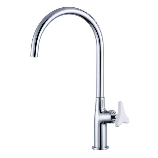 Chrome Plated Brass Hot And Cold Kitchen Sink Faucet Trigonometric Stone Handle Mixer Water Tap White/Black/Chrome 3 Choice