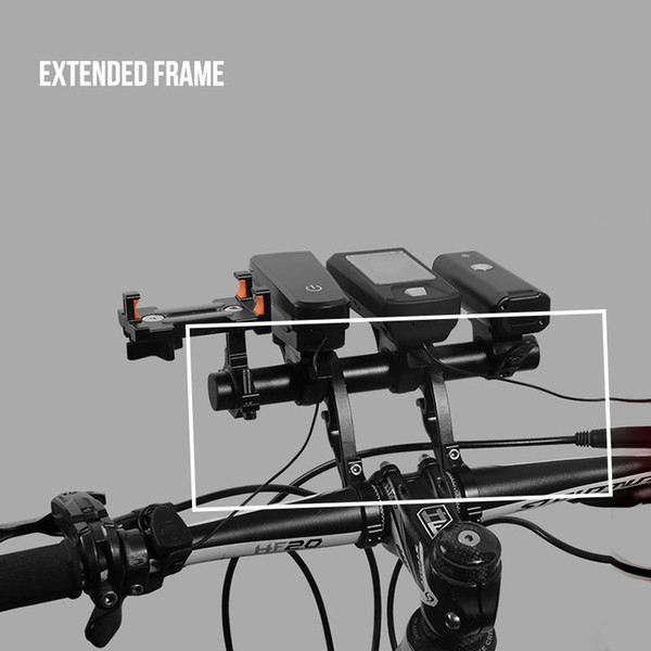 Aluminum alloy extension frame bicycle extension truck clamping mountain bike code meter lamp holder fixed base code meter frame