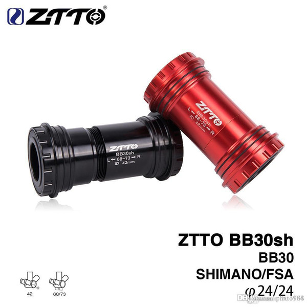 ZTTO BB30sh BB30 24 Adapter bicycle Press Fit Bottom Brackets Shimano Axle For MTB Road bike Parts Prowheel 24mm Crankset