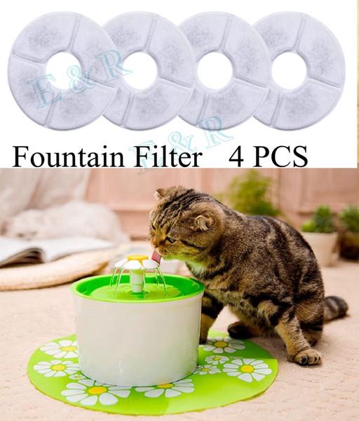 Pet Kedi Çeşme Filtresi 4 ADET Aktif Karbon Filtreler Kömür Filtre Değiştirme Kedi Köpek Evcil Çeşmesi için Içme Suyu