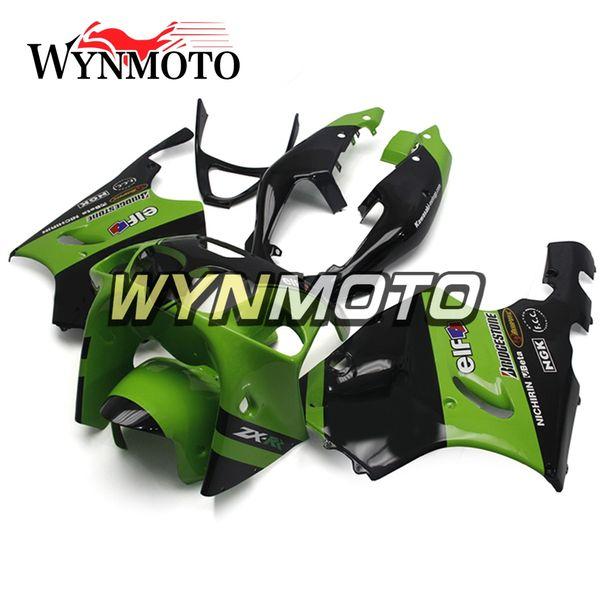 Elf Green Black Full Carenados para Kawasaki ZX7R 1996 - 2003 Ninja ZX-7R 97 98 99 00 02 01 03 Fundas de motocicleta de plástico ABS Kits de cuerpo Nuevo