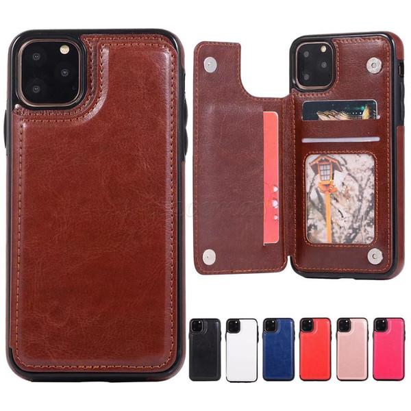 Mixed Verkauf zweireihige PU-Leder-Telefon-Kasten für iPhone 11 Pro X XR XS Max 6 7 8 und Samsung Note 8 9 10 Pro S10 Edge-S9 S8 plus