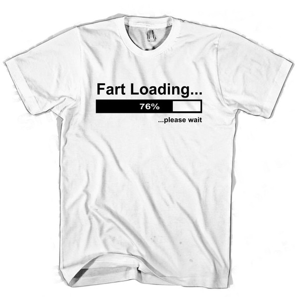 FART LOADING FUNNY WHITE T SHIRT ALL SIZES