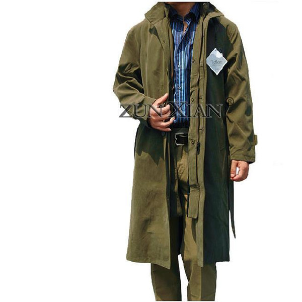 All'ingrosso-Nizza Trench Coat Big Large Weight 024kg Inverno Mens Cotton Coat Collar Design Long Outwear Cappotto Manteau Homme 4 Col