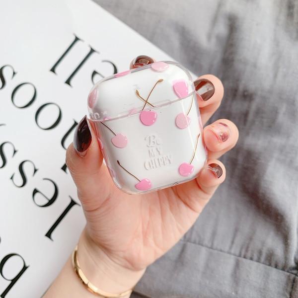 Mytoto летние фрукты вишня персик наушники гарнитура аксессуары ПК прозрачный чехол для Apple Airpods 1/2 Беспроводная Bluetooth-гарнитура сумки