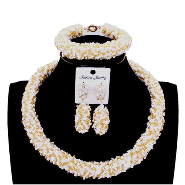 wholesale Wedding Nigerian Choker Necklace Set Round Bridal Jewellery Sets Gold Free Shipping Fashion 2018 Jewelry Set New