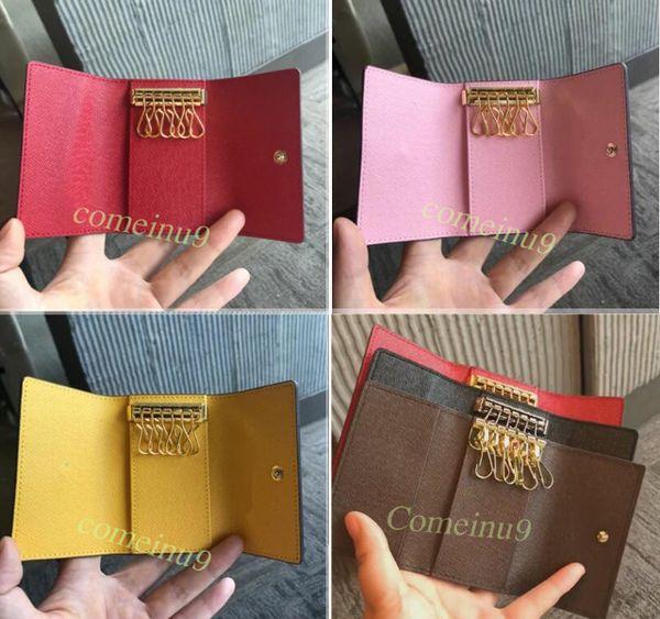 Comeinu9 Hohe Qualität frauen Sechs Schlüsselhalter brieftasche Männer Klassische Schlüsselanhänger Tasche mit box, staubbeutel karte 60701 Heißer Stempel benutzerdefinierte