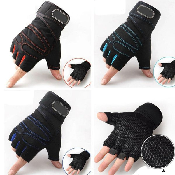 Weight Lifting Gym Gloves Workout Wrist Wrap Sport Exercise Training Fitness Mittens For Men