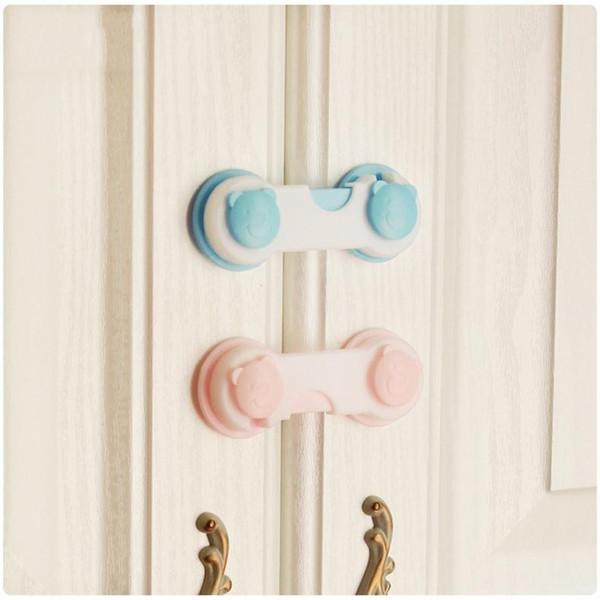 Baby Kids Box Drawer Locks Bear Printed Cupboard Cabinet Wardrobe Door Fridge Safety Locks Protect Children Multifunctional